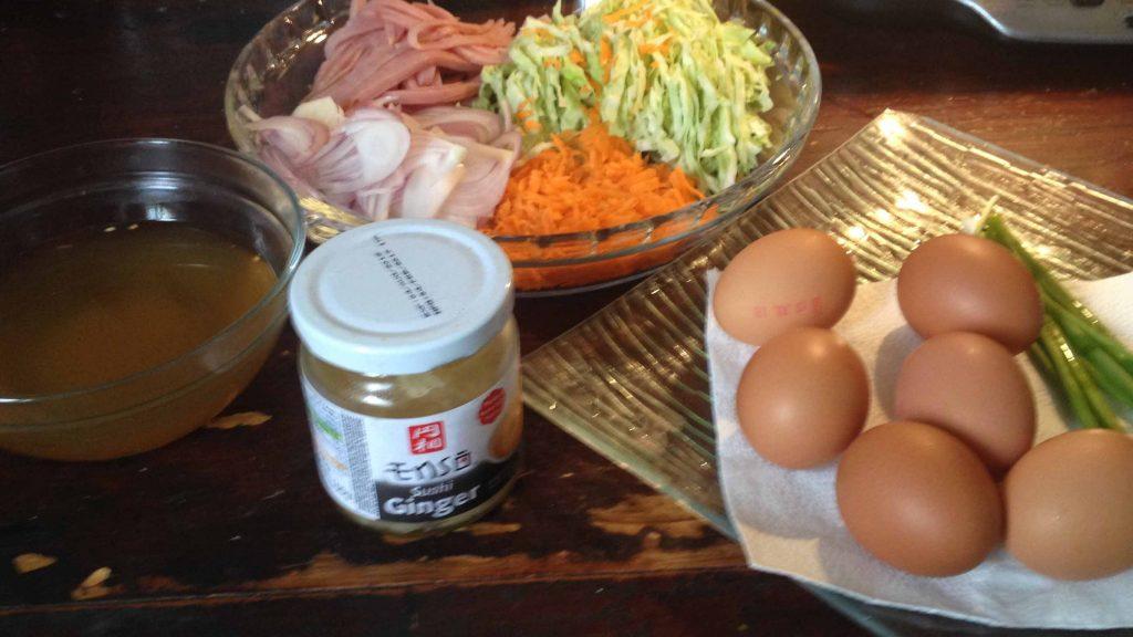 ingrédients recette okonomiyaki