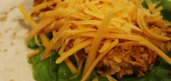 wrap poulet croustillant