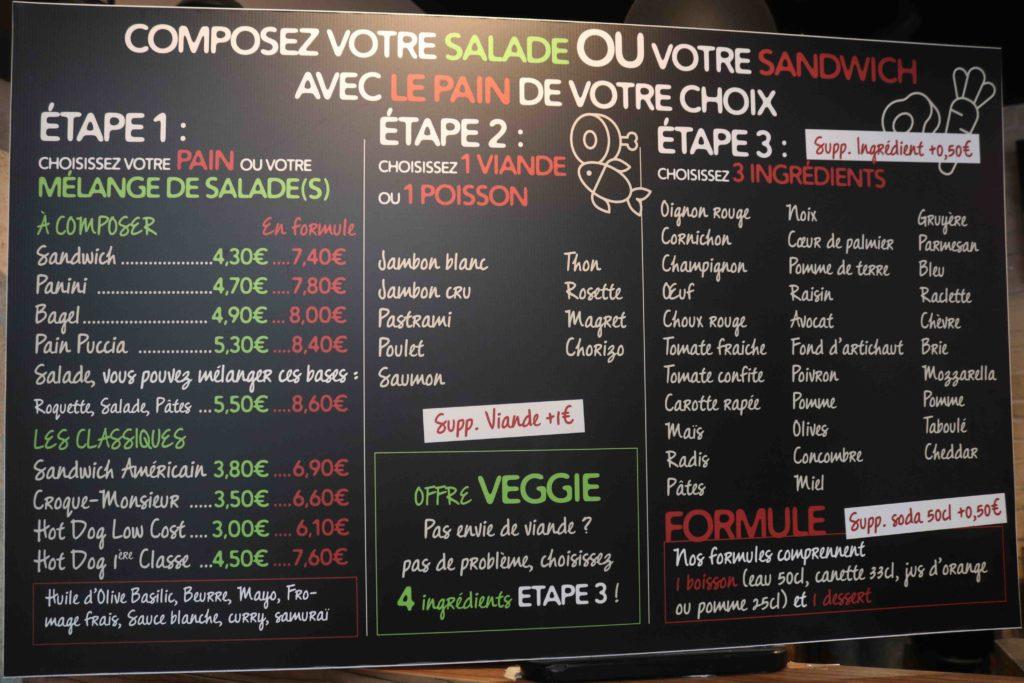 Menu La Lichouille Rennes