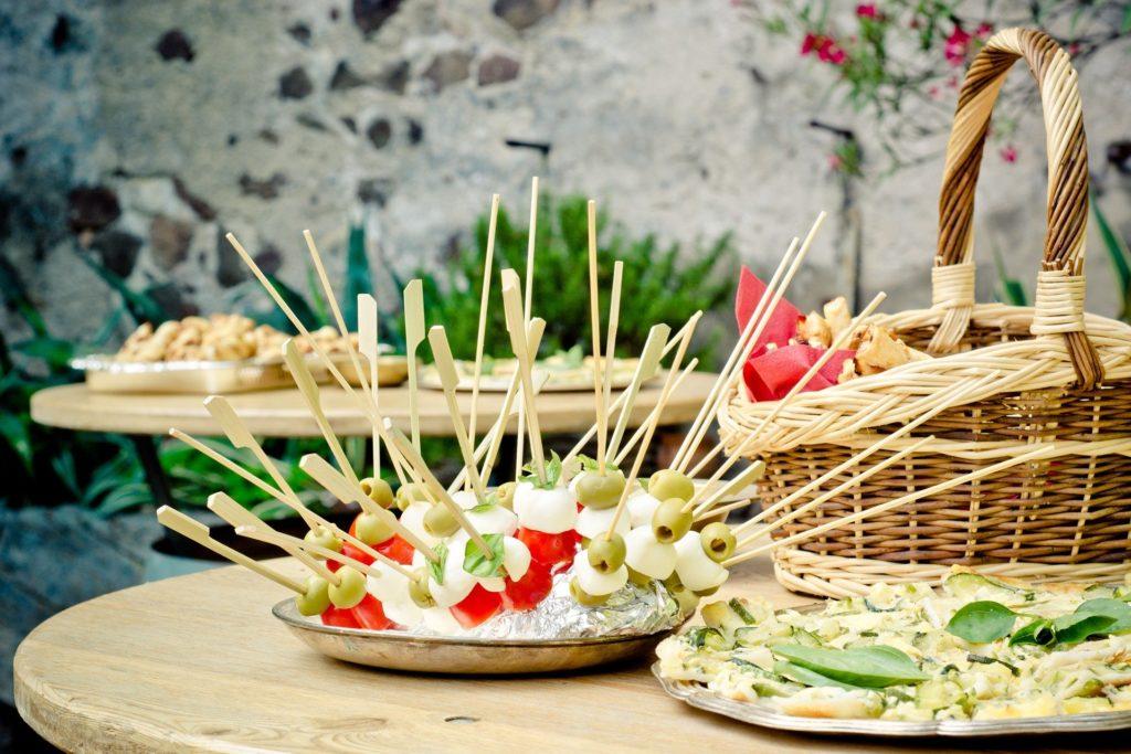 Brochettes de légumes pour apéritif